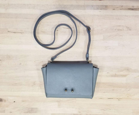 Jo Handbag - Grey Wallet with strap