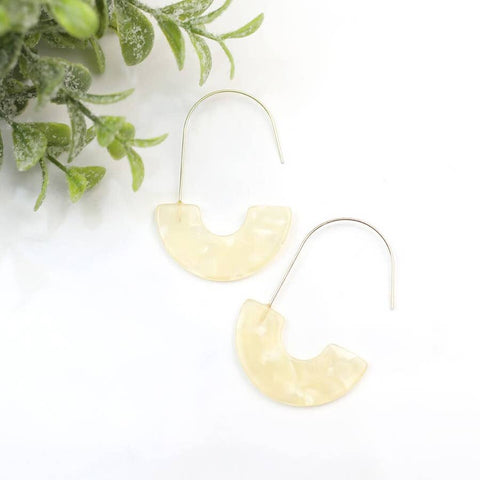 Funky Monkey Luna Cream Tortoise & Half Moon Earrings