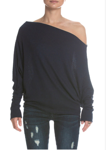 Elan Off White Dolman Top