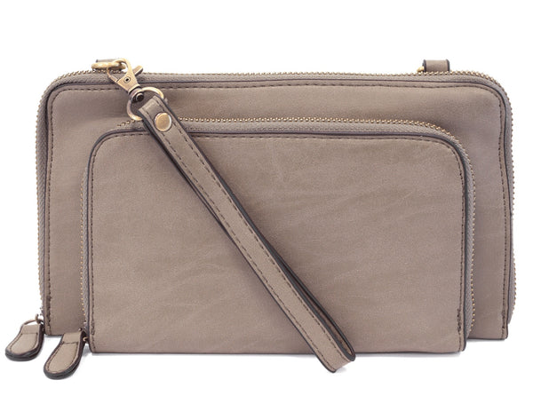 Joy Susan Brushed Mini Convertible Zip Wristlet