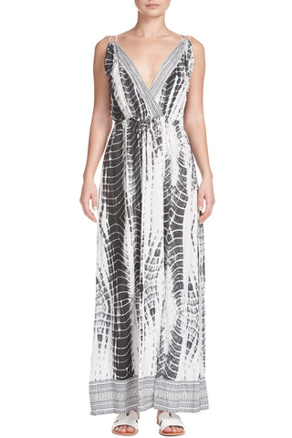 Elan Maxi Cross Front Dress