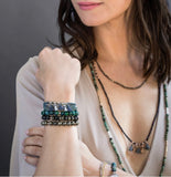 "Scout Curated Wears-Stone Stacking Bracelet ""Sky"""