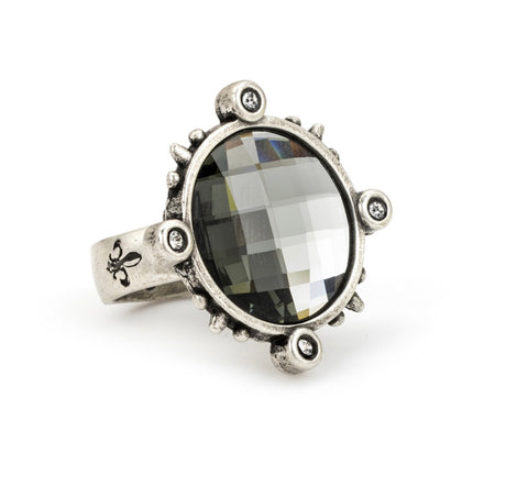 French  Kande CHECKERBOARD Ring