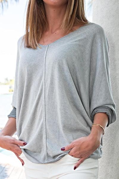 Free For Humanity Double V Neck Top