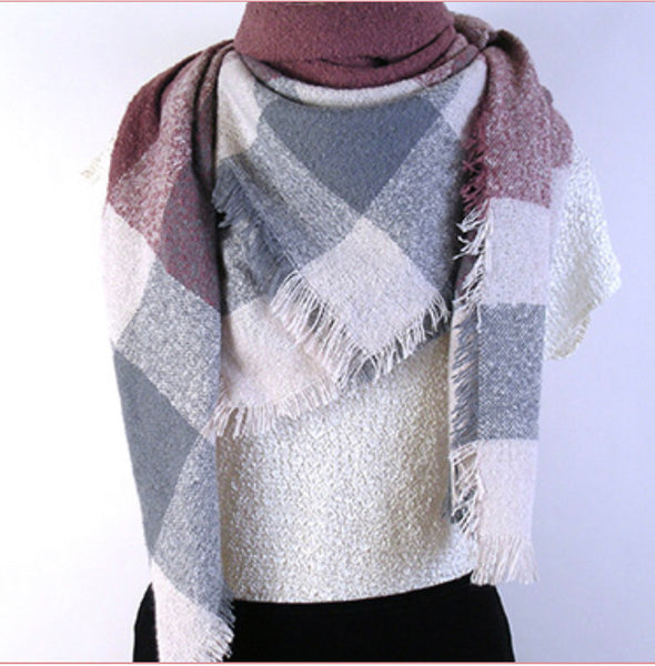 Mademoiselle Woven Boucle Square Scarf