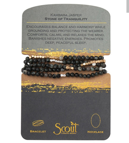Scout Bracelet Kambaba Jasper and gold-Tranquility