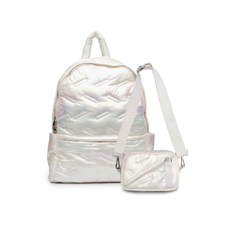 Go Dot Dash Maya Backpack White Iridescent