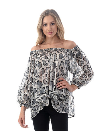 Ariella Off-The-Shoulder Tie Top