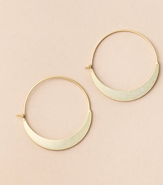 Scout Refined Earring Collection-Crescent Hoop Gold Vemeil