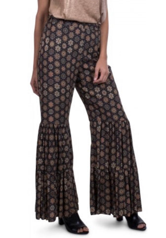 Gigi Moda Mandala Bell-Bottom Pants
