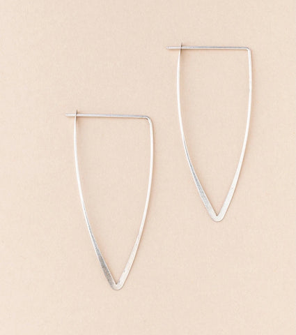 Scout Refined Earring Collection-Galaxy Triangle Silver
