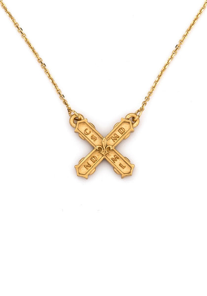 French Kande PETITE FRENCH KISS NECKLACE GOLD