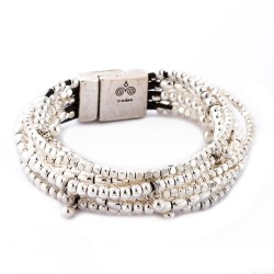 Trades by Haim Sharar - silver collection bracelet