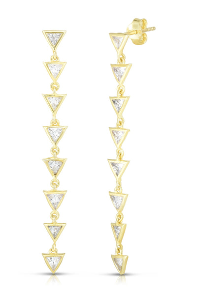 Sphera Milano Triangle Drop Earrings