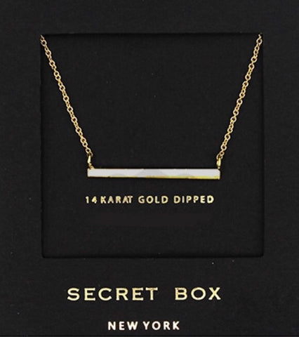 Secret Box Silver Bar Necklace