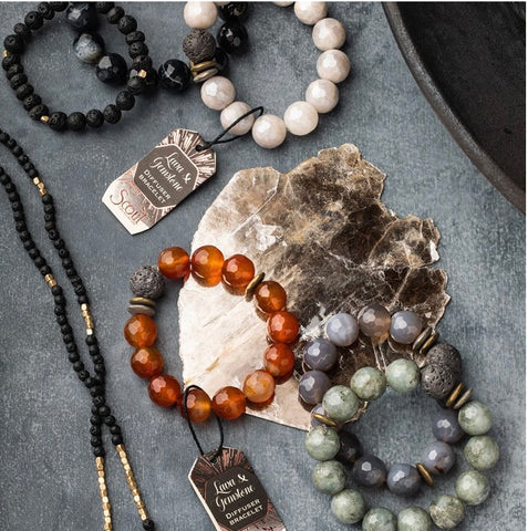 Scout Curated Wears-Lava and Gemstone Diffuser Bracelet