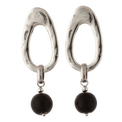 Trades by Haim Sharar - silver collection earrings