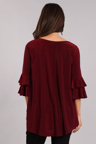 Karen T Design Bell Sleeve Top