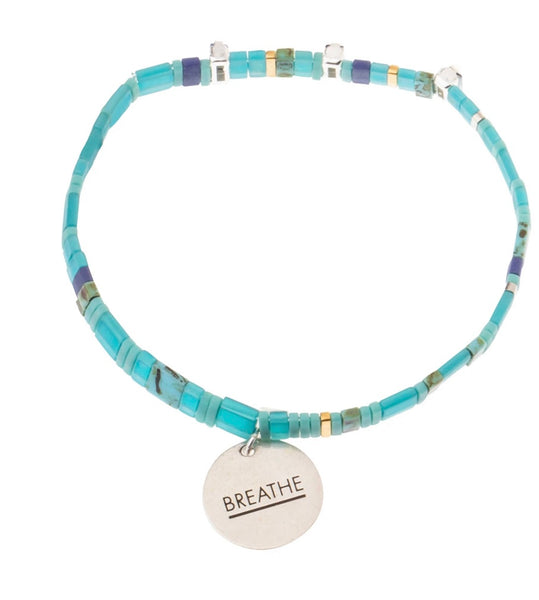"Scout Curated Wears-Good Karma Charm Bracelet ""Breathe"""