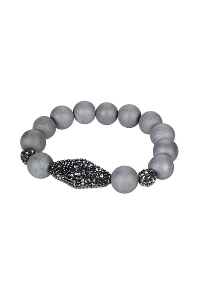 Ole Accessories Stone Bead Stretch Bracelet