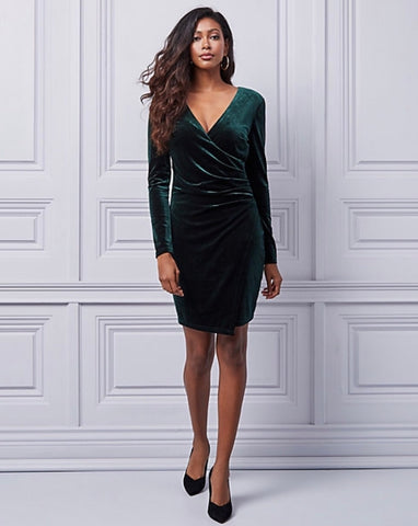 Le Chateau Velvet Wrap-Like Dres