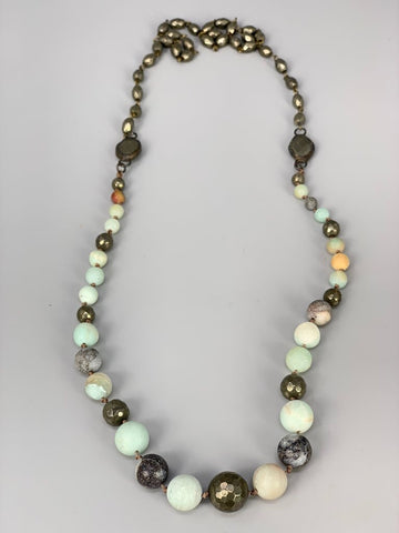 Melania Clara Molly Amazonite Necklace