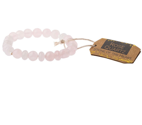 Scout Rose Quartz Stone Bracelet-Stone of the Heart