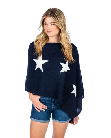 Alashan 100% Cashmere Star Intarsia Topper