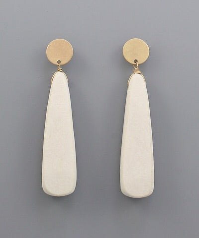 Stella Wood Triangle Earrings