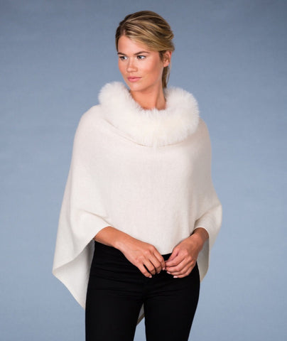 Alashan - Cashmere LUXE Windchill Fox Trim Topper