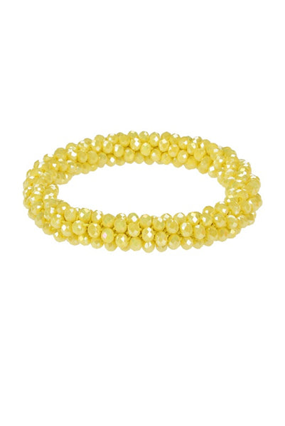 Crystal beaded bracelet