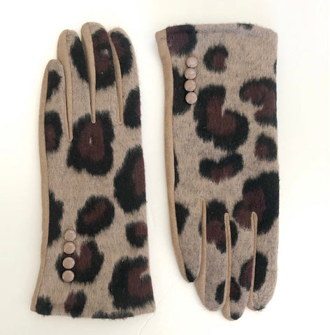 CRC Redefined Tan, Black and Burgundy Leopard Print Touch Screen