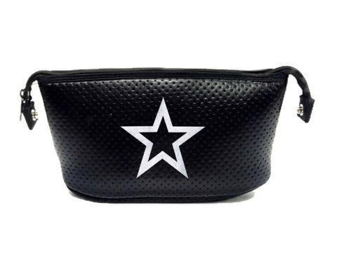Haute Shore Erin Black Coated Silver Sparkle Star Cosmetic Bag
