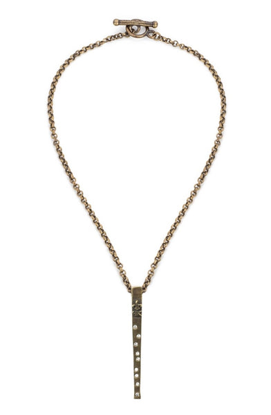 French Kande ROLO CHAIN WITH SWAROVSKI SPIKE