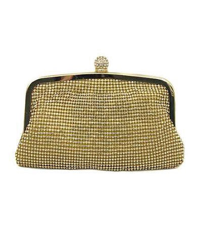 Stella Crystal Mesh Evening Pouch
