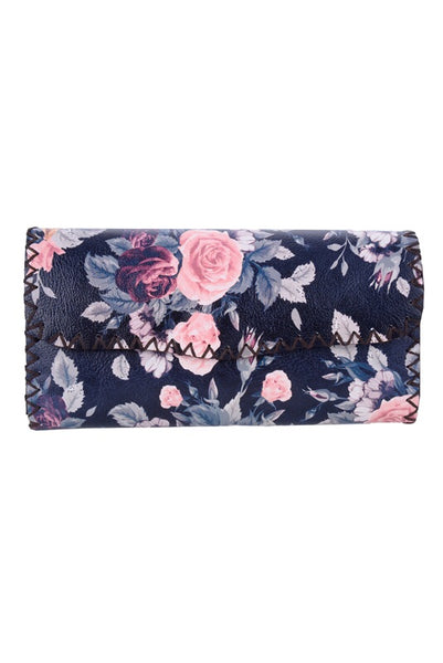 Flower pattern wallet