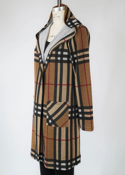 Frank Lyman Plaid Knit Duster