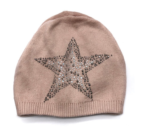 CRC Redefined Cashmere Blend Hat with Crystal Star