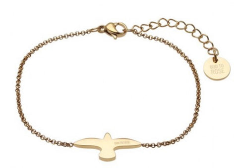 Bud To Rose Dove Bracelet Gold