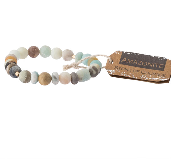 Scout Curated Wears-Stone Stacking Bracelet-Courage