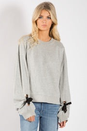 Elan Tie Sleeve Sweater