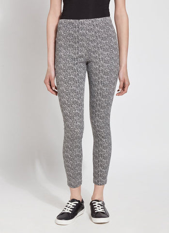 Lysse Toothpick Denim - Tweed Print