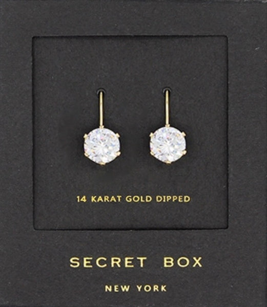 Secret Box Crystal Drop Earrings