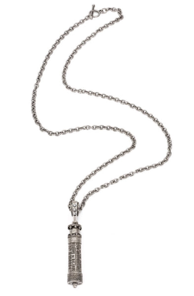 French Kande CABLE CHAIN WITH CHEMIN DE FER PENDANT