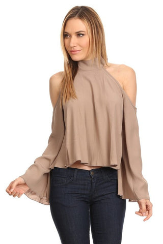 Elan Cold Shoulder Top