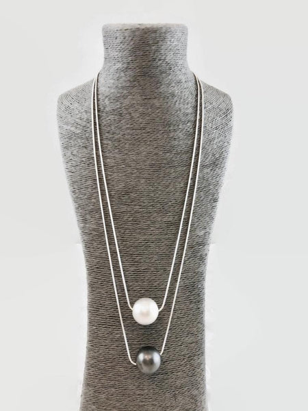 A Touch of Style - Long Circle Sphere Necklace