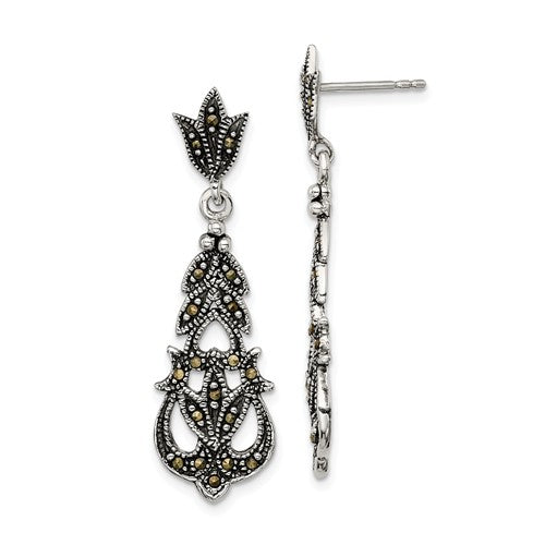 Sterling Silver Marcasite Earrings