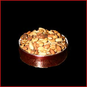 1 Pound Tin of Deluxe Mixed Nuts Salted