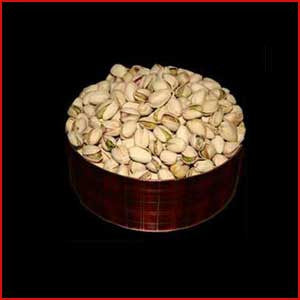 1 Pound Tin Of Pistachios Natural Salted