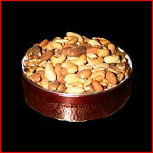 2 Pound Tin of Deluxe Mixed Nuts Salted